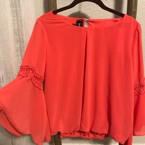 By & by blouse with sleeve detail size Medium